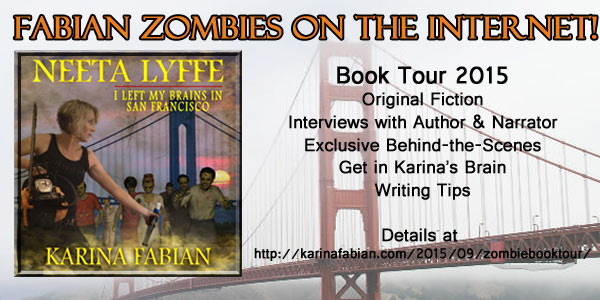 banner for I Left My Brains in San Francisco audiobook tour