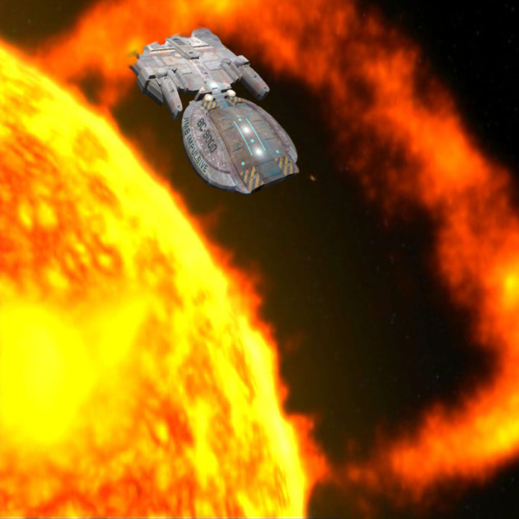 Impulsive threads a solar flare