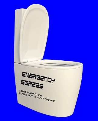 the emergency escape hatch on the HMB shuttle Kenival