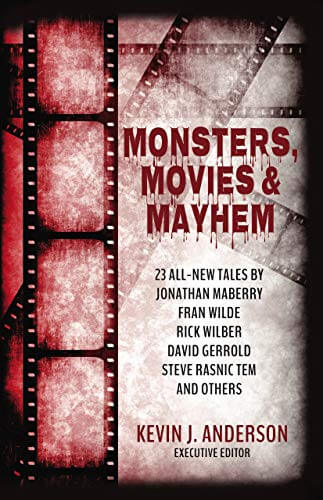 cover art for monsters movies and mayhem